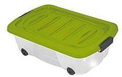 KAISERHOFF Pojízdný úložný box s víkem 24l (KO-899487), zelená