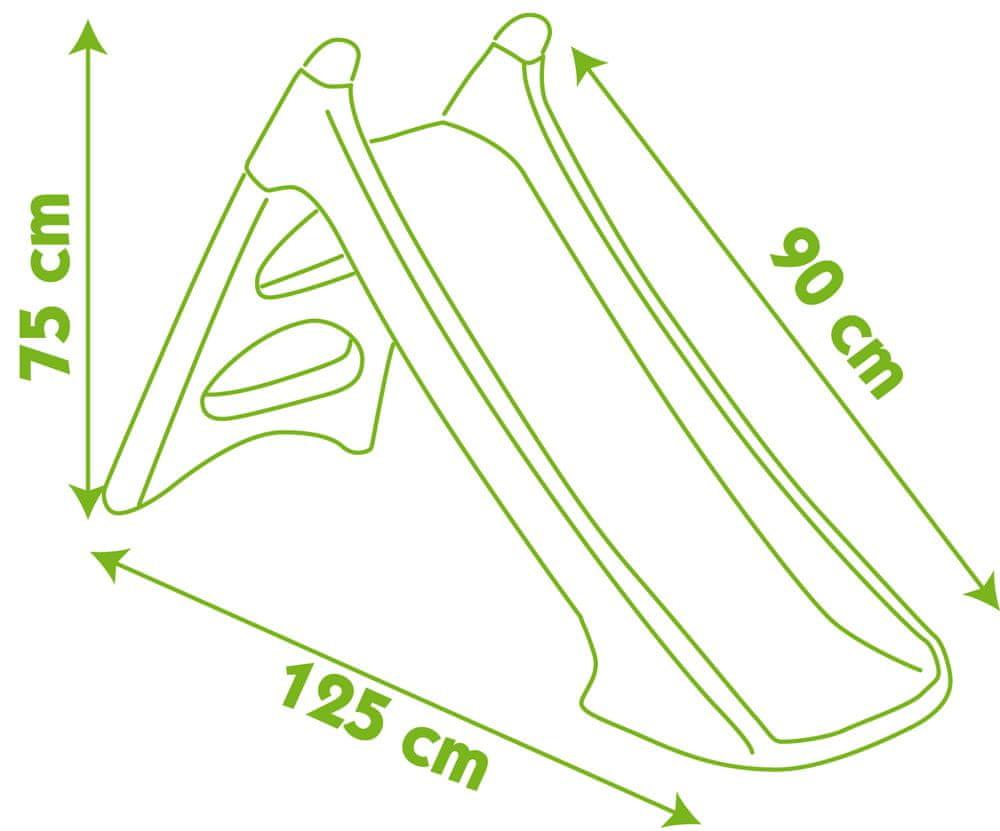 Smoby Skluzavka Toboggan XS 90 cm růžová