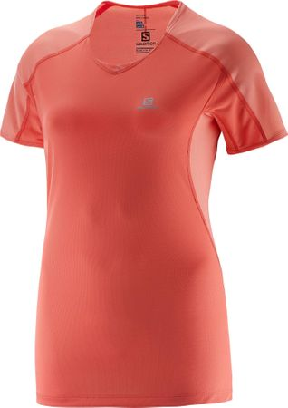 Salomon majica s kratkimi rokavi Trail Runner Tee W, ženska, koralna, L