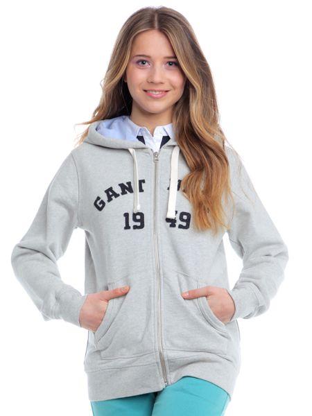 Gant dámská mikina s kapucí L šedá