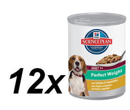 Hill's mokra hrana za odrasle pse Canine Perfect Weight, 12 x 363 g