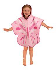 LittleLife Ultralight Poncho Towel - Butterfly