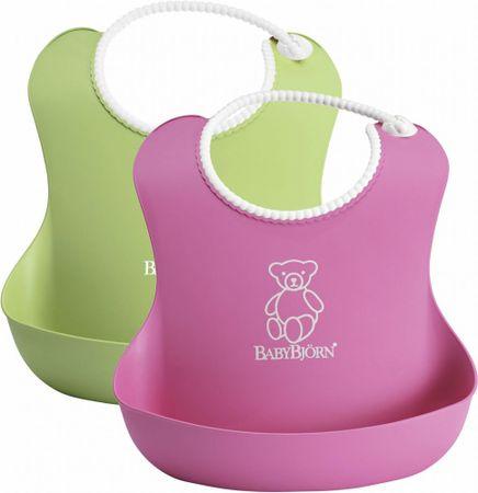 Babybjörn slinček Soft, 2 kos, zelen in roza