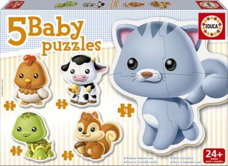 Educa otroška sestavljanka Živali, 3-5 kosov