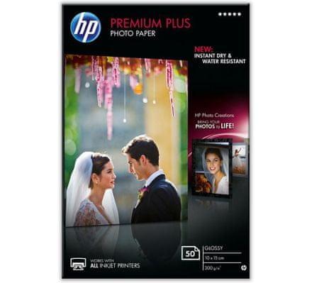 HP foto papir Premium Plus Glossy, 10 x 15 cm (CR695A)