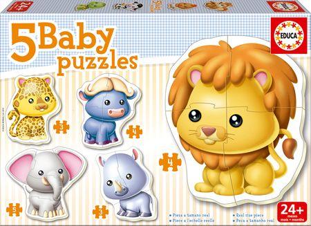 Educa otroška sestavljanka Divje živali, 3-5 kosov