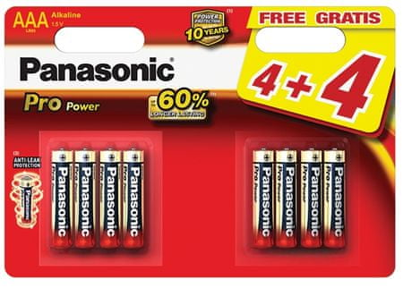 PANASONIC Pro Power (LR03PPG/8BW) AAA Elem, 8db