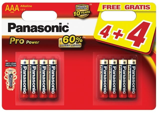 Panasonic AAA 8ks Pro Power (LR03PPG/8BW)