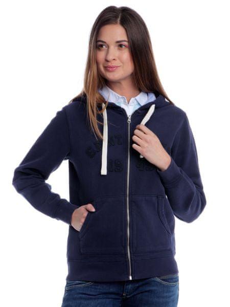 Gant dámská mikina s kapucí S modrá