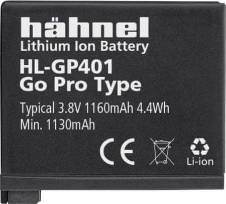Hähnel baterija AHDBT-401 za GoPro 4 (HL-GP401)
