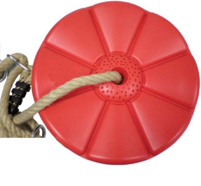 CUBS Houpačka Disk - květinka červená