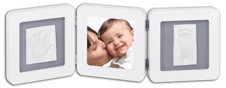 BabyArt dvojni odtis in fotografija, belo-siva