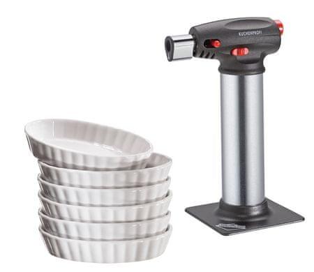Küchenprofi plinski gorilnik za creme brulee in posodice, 7 kosov