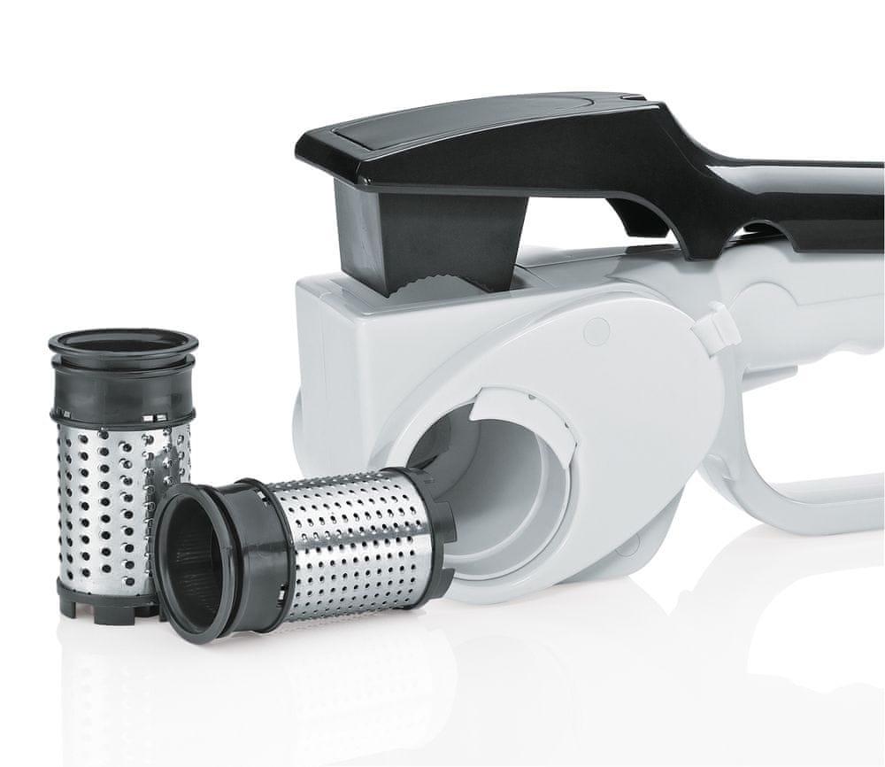 Küchenprofi Elektrické struhadlo na sýr, bílá/černá