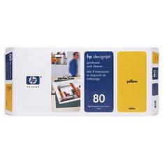 HP tiskalna glava in čistilo 80 (C4823A), rumena