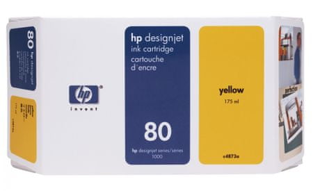 HP kartuša 80 (C4873A), 175 ml, Yellow