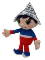 MÚ BRNO Maskotka chłopiec w czapce z gazety, 26 cm
