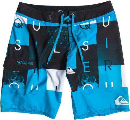 Quiksilver kratke hlače Checkmate 19, muške, plavo-crne, 34