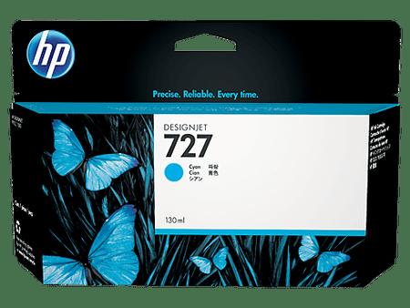 HP kartuša 727 (B3P19A), 130 ml, Cyan