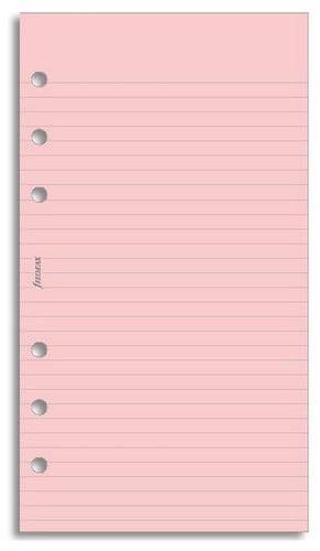 Náhradní náplň do diáře Filofax Osobní papír linkovaný, růžový, 30 listů