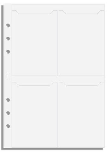 Náhradní náplň do diáře Filofax A5 na vizitky, 8 kapes