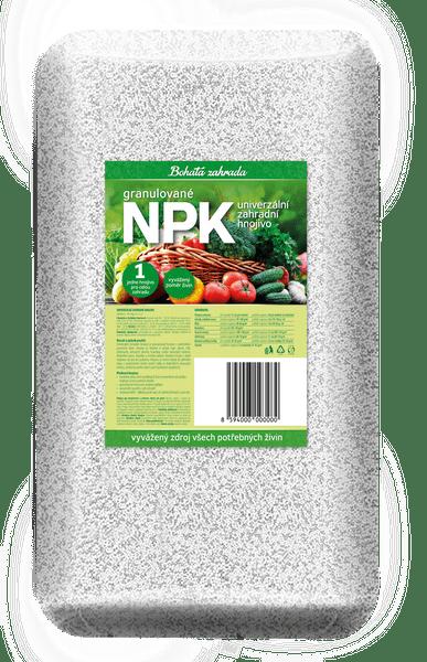 Bohatá zahrada NPK - Univerzální zahradní hnojivo 5kg