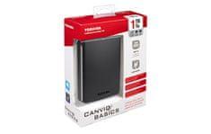 "TOSHIBA vanjski disk Canvio Basics, 1 TB, 2,5"", USB 3.0, crni"