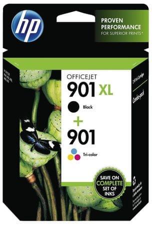 HP komplet kartuš 901XL črna + 901 barvna (SD519AE)