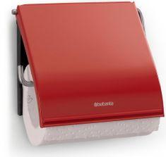 Brabantia držalo za toaletni papir Classic, rdeč