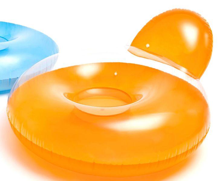 Intex 58889 Matrace do vody s opěrátkem oranžová