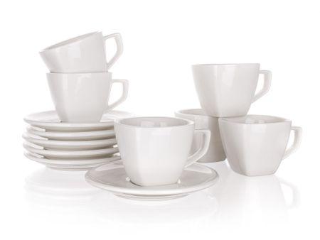 Banquet skodelice in krožniki Alba, 250 ml, 6 kosov - odprta embalaža