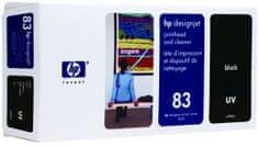 HP tiskalna glava in čistilo 83 (C4960A), črna