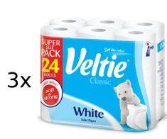 Veltie White toaletný papier 3 x 24 roliek