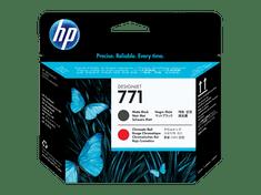 HP tiskalna glava 771 (CE017A), Matte Black/Chromatic Red