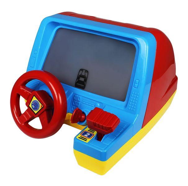 Let's play Dětský volant s obrazovkou červený