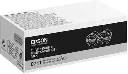 Epson toner 0711 (C13S050711), 2 x 2500 strani, črn