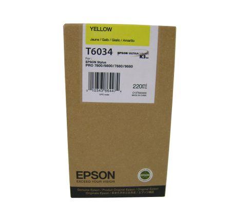 Epson kartuša T6034 (C13T603400), 220 ml, rumena