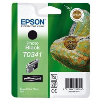 Epson kartuša T0341 (C13T03414010), 17 ml, foto črna