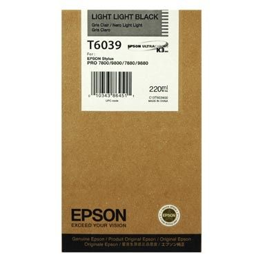 Epson kartuša T6039 (C13T603900), 220 ml, Light Light Black