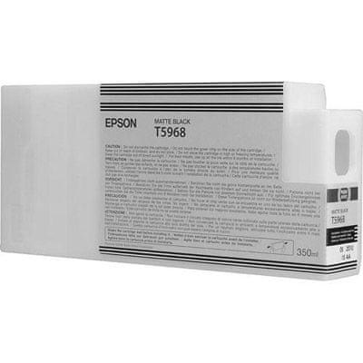 Epson kartuša T5968 (C13T596800), 350 ml, mat črna