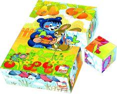 BINO Fa kocka kirakó - Baribal (15 db-os)