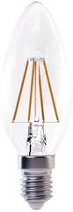Emos LED žárovka Filament CANDLE, teplá bílá