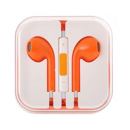 Slušalke, univerzalne, 3,5 jack oranžna