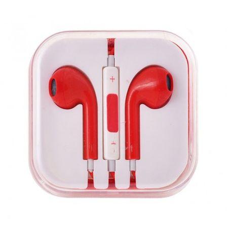 Slušalke, univerzalne, 3,5 jack rdeča