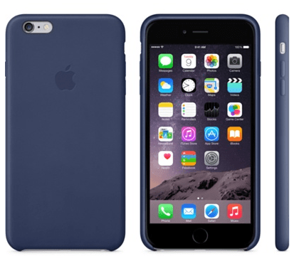 Apple Kožený kryt iPhone 6 Plus, modrý