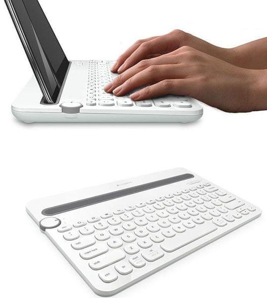 Logitech Bluetooth Multi-Device Keyboard K480 US, bílá (920-006367)
