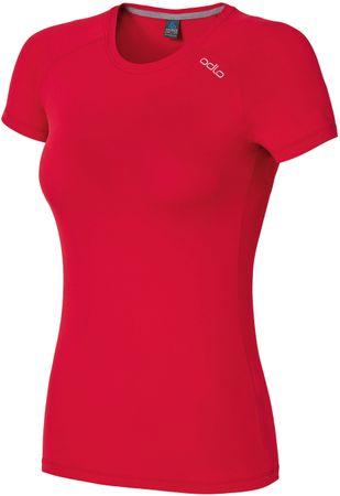 ODLO majica s kratkimi rokavi Sillian, ženska, rdeča, XS