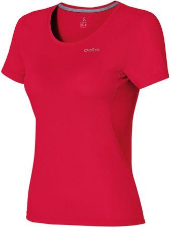 ODLO majica s kratkimi rokavi Maren, ženska, rdeča, S