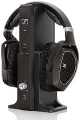 SENNHEISER RS 185 Vezeték nélküli fejhallgató, Fekete