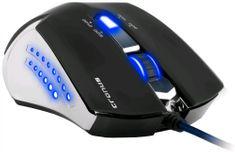 C-Tech Cronus, herní pokovená, modré podsvícení, 2400DPI, USB (GM-02)